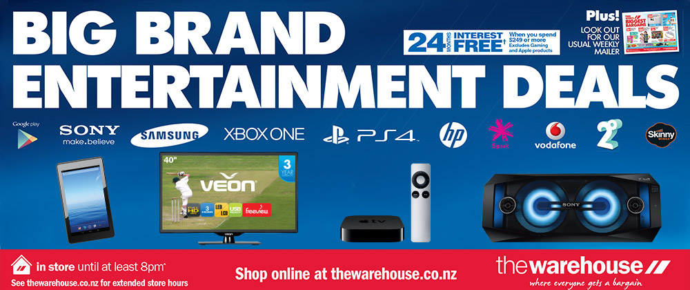 The Warehouse - Big Brand Entertainment Deals 2015