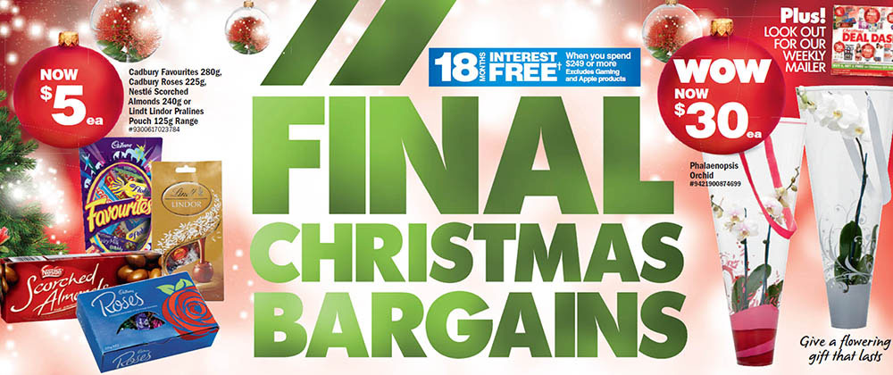 The Warehouse - Final Christmas Bargains 2014