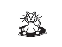 LivingStyles Fat Cat Funny Family Car Sticker