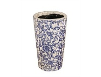 Living & Giving Ceramic Floral Tapered Vase 22cm