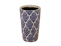 Living & Giving Ceramic Motif Tapered Vase 22cm